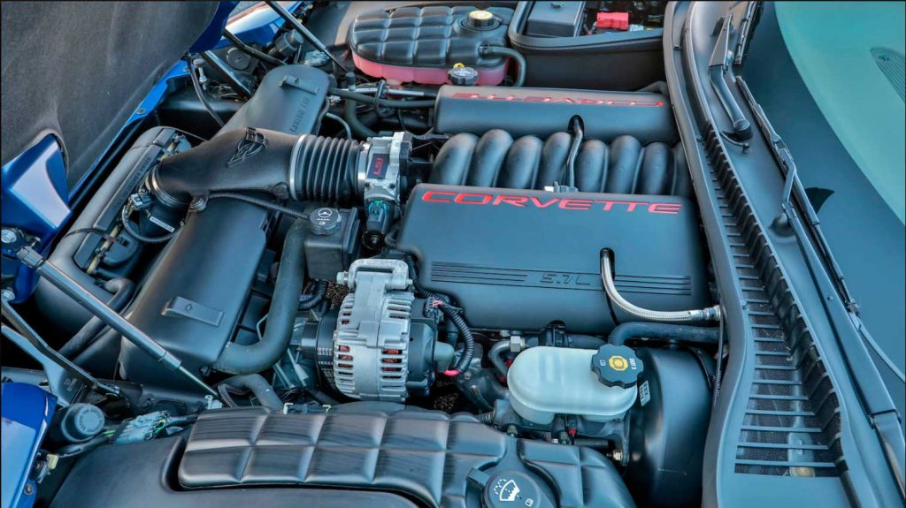 This is the engine in the 2004 Chevrolet Corvette Commemorative Edition Last C5 ZO6.