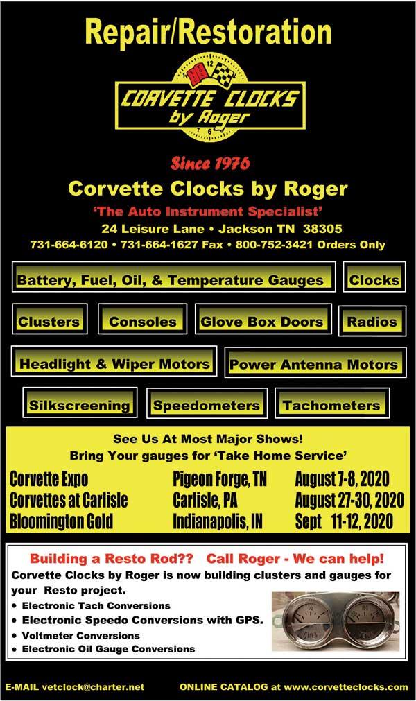 Corvette Clocks by Roger 800-752-3421 http://www.corvetteclocks.com/