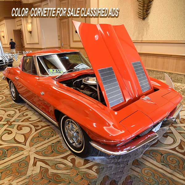 Vette Vues Magazine offers Corvette color photo classified ad in print and online.