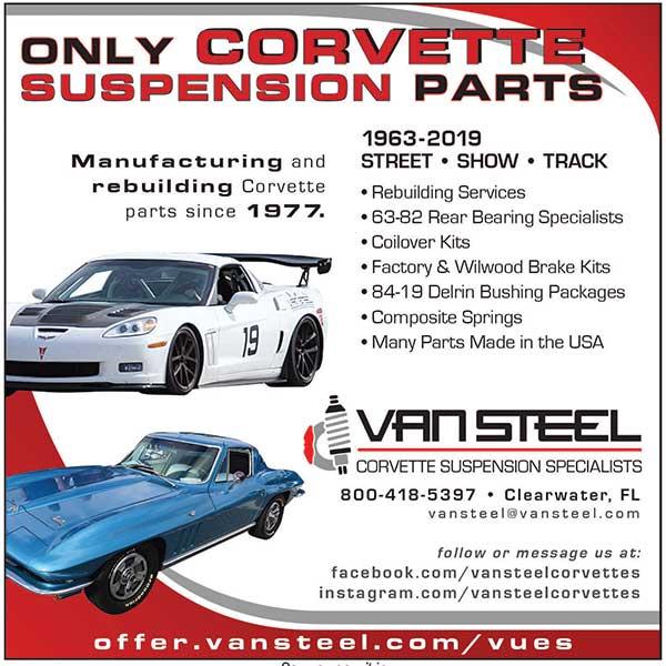 Van Steel Corvette Suspension Specialists 1-800-418-5397 http://www.vansteel.com/