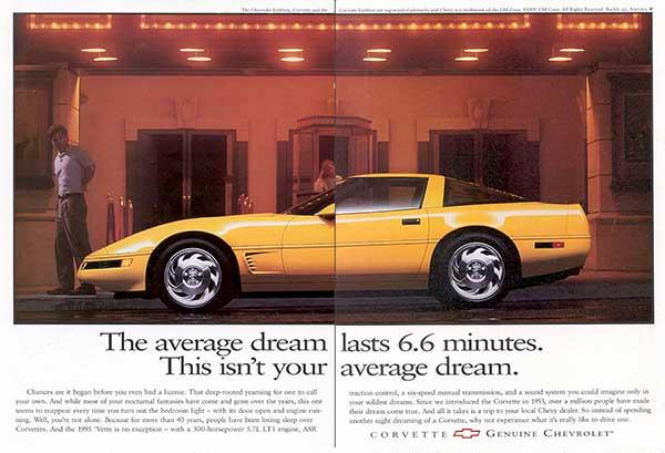 1995 Corvette Magazine Advertisement
