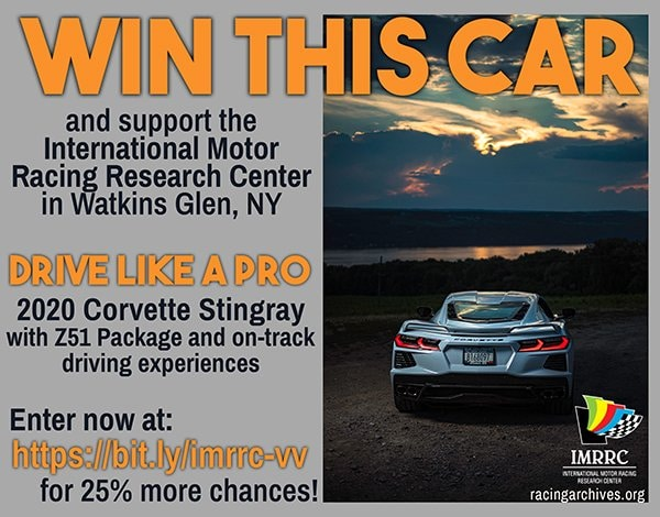 International Motor Racing Research Center in Watkins Glen, NY Raffle
