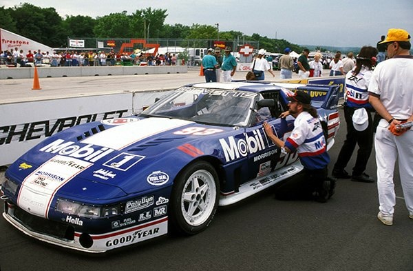 For 1995 the Snakeskinner cars adopted a blue and white Grand Sport paint theme. Photo Credit Brett Richmond