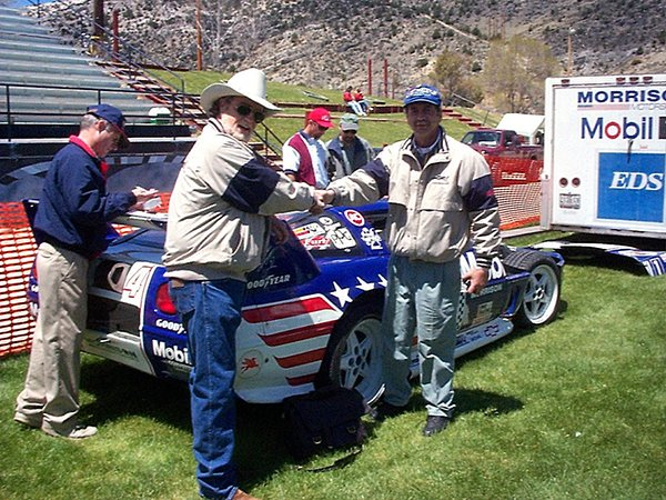 In 1997, the # 94 SCCA WC Snakeskinner was sold to a gentleman racer with a view to running the 1999 Silver state Classic. The car was later repossessed.  Photo Credit Team ZR-1 Corvette Racers LLC