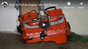 Wayne Scraba show us how to pull an engine out of an old car without damaging the car or engine.