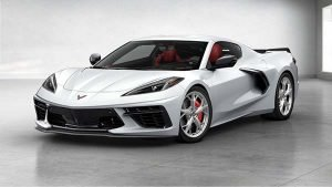 The 1.75 millionth Corvette, is a 2020 C8 Arctic White Coupe with Adrenaline Red interior, will only temporarily call the National Corvette Museum its home as it will be used in a fundraising raffle by the Museum.