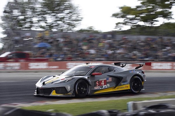 Oliver Gavin and Tommy Milner placed second in the No. 4 Corvette C8.R at Road America 2020.