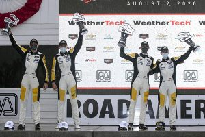 Corvette Racing took its second consecutive 1-2 finish in the IMSA WeatherTech SportsCar Championship's GT Le Mans (GTLM class) following a chaotic finish Sunday at Road America 2020.