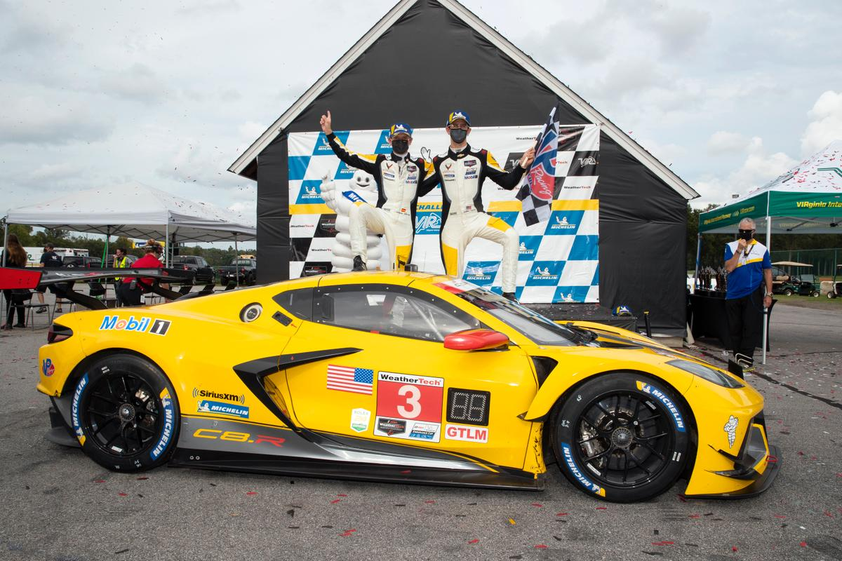 Corvette's victory at VIR is the fourth consecutive for Corvette Racing for 2020.