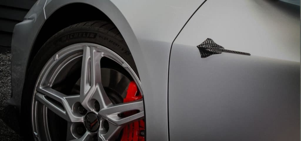 Nowicki Autosport introduces a new portfolio of authentic carbon fiber restyling components for America's Supercar, the C8 Corvette. The first component in the distinctive Concept8 collection is this carbon fiber badge package.