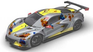 Corvette C8.R Corvettes use 75 3D-printed parts