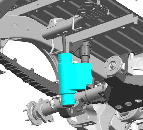 The Silverado race truck has three 3D-printed parts made in-house by GM, including the rear damper shields.