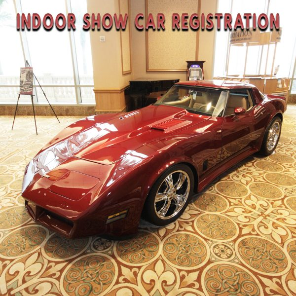 Registration for indoor show cars for the Galveston Island Convention Center. The next show dates are March 13 & 14, 2021.