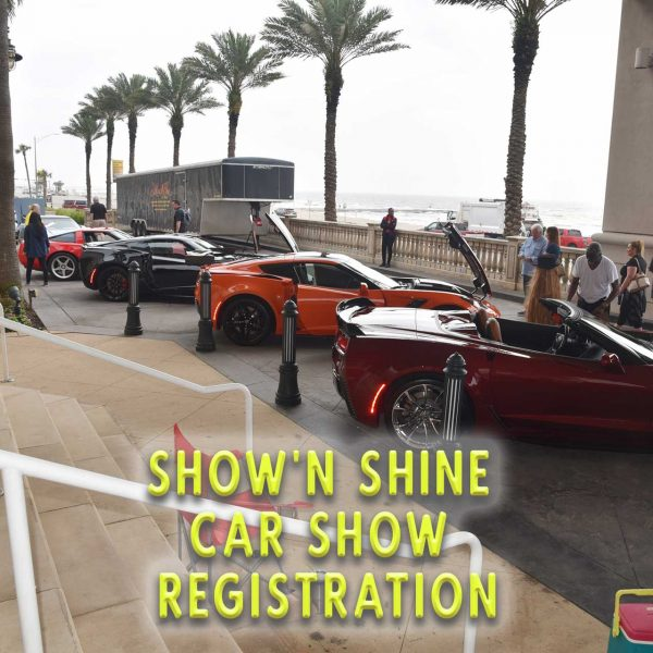 Show'n Shine Car Show Registration for the Corvette Chevy Expo at Galveston Island Texas.