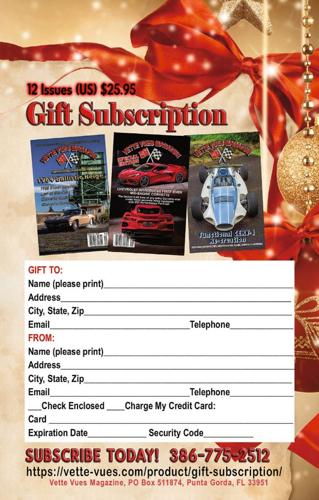 Vette Vues Magazine Gift Subscriptions