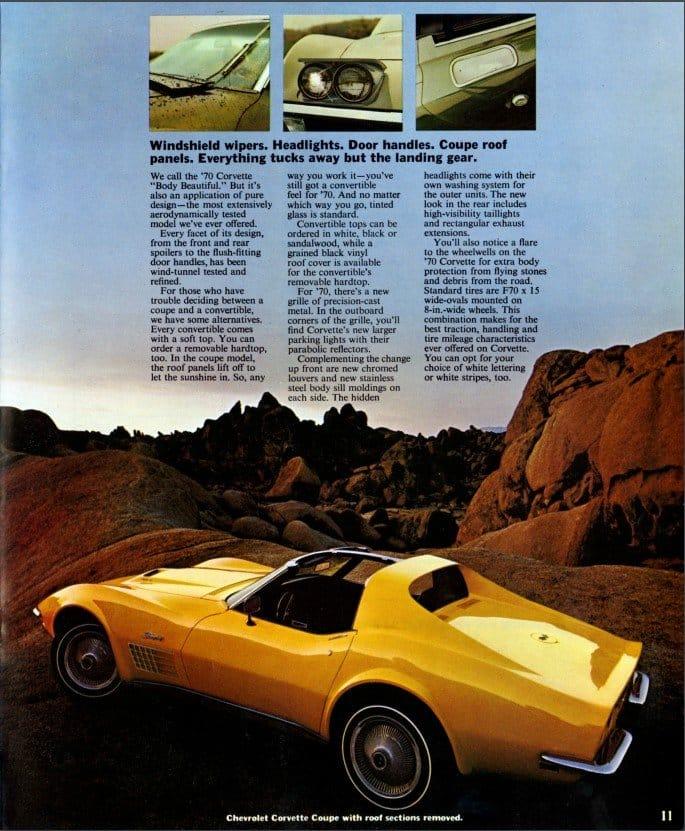 1970 Corvette Brochure Page 11