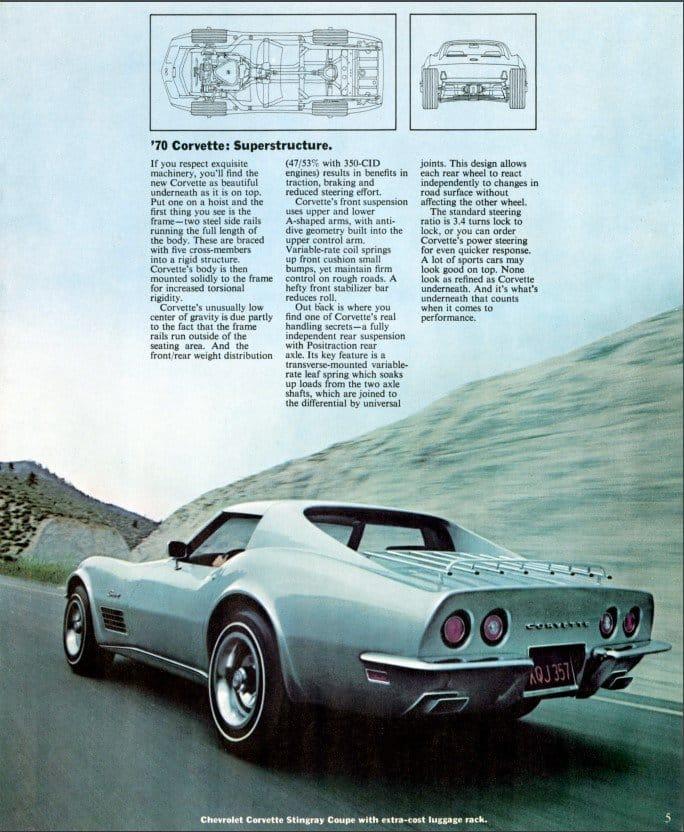 1970 Corvette Brochure Page 5