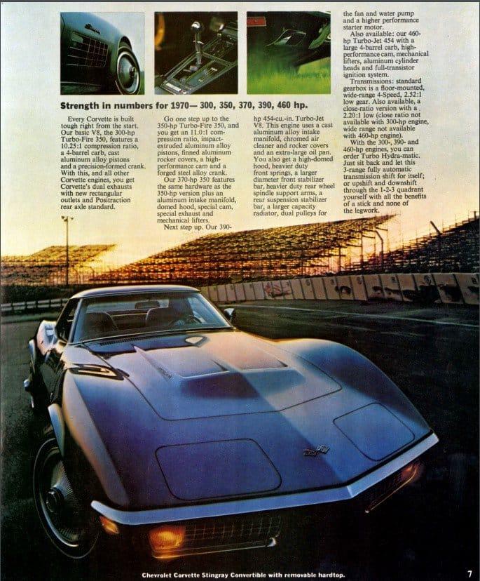 1970 Corvette Brochure Page 7
