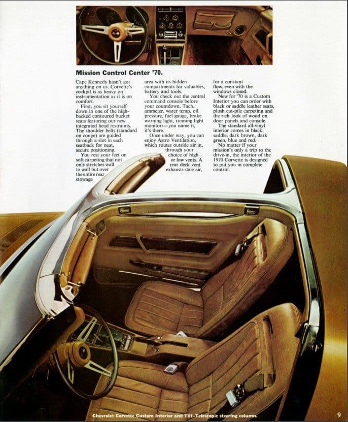 1970 Corvette Brochure Page 9
