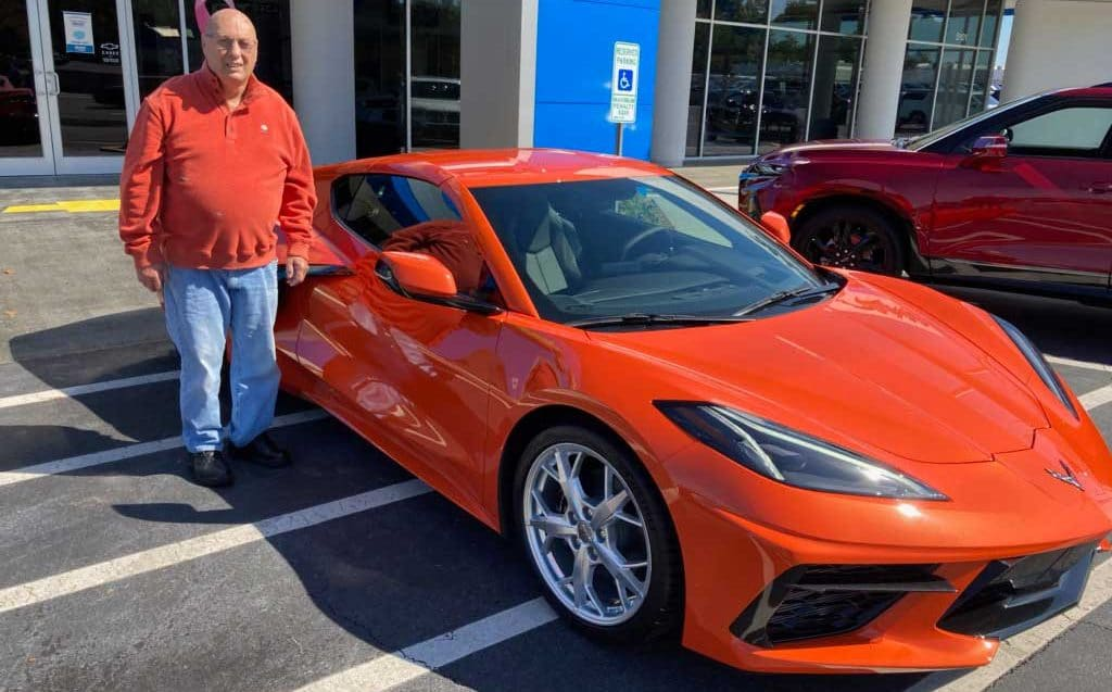 C8 Corvette at Hendrick City Chevrolet owned by Leighton H Emory