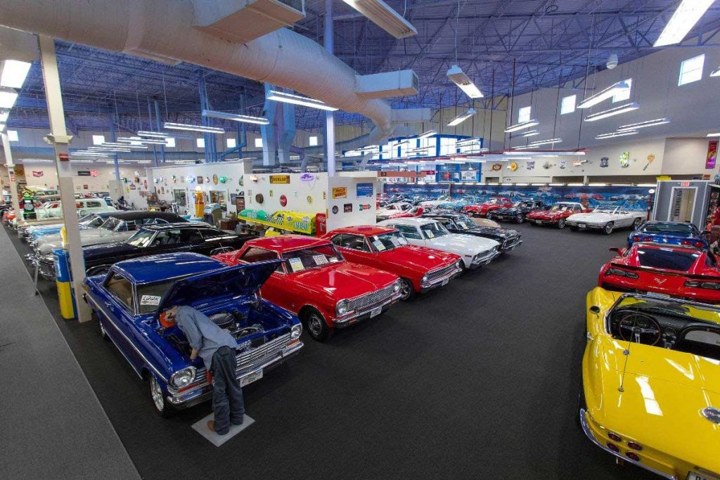 The Muscle Car City has been a lifelong project for Treworgy, who owns all of the classic vehicles that include Corvettes, Chevelles, GTOs, Camaros, Novas and a 1936 Chevy Phaeton −— one of only seven that were built and still in existence.