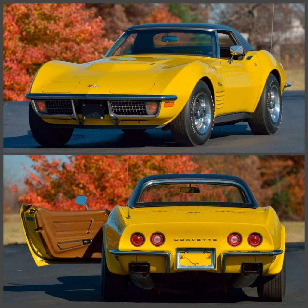 1971 LS6 Corvette Convertible Unrestored 33,146 original miles.