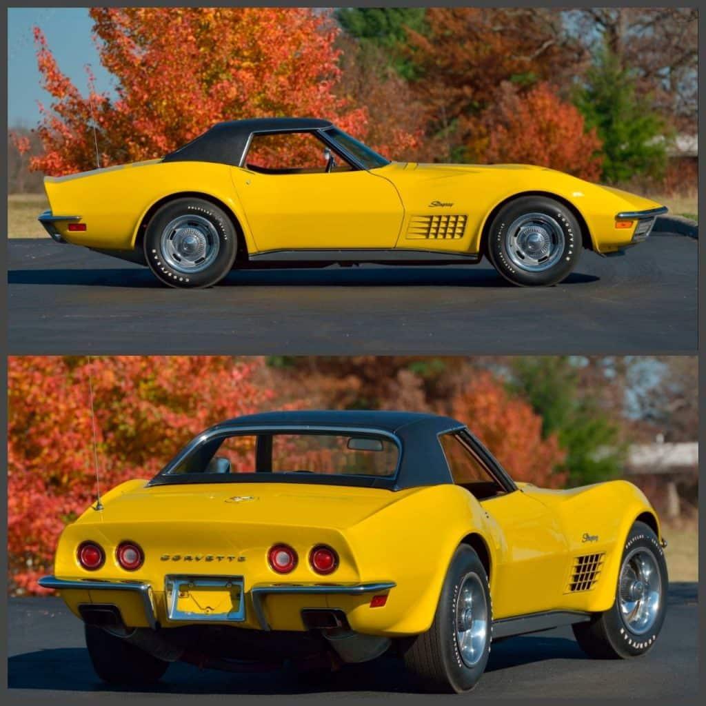 1971 Sunflower Yellow LS6 Corvette Convertible Lot S150 Mecum Kissimmee, 2021