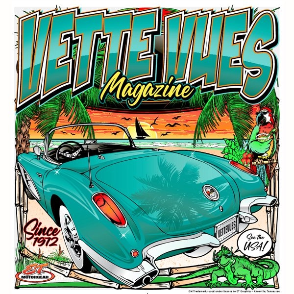 Vette Vues Magazine C1 Logo Corvette T-Shirt