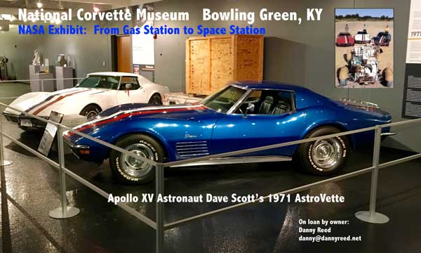 Apollo XV Astronaut Dave Scott's 1971 AstroVette on display at the National Corvette Museum in Bowling Green, KY.