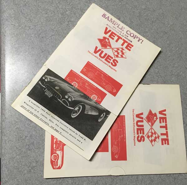 In the early days, Mr. Prather would send out sample copies to new Corvette owners in hopes they would subscribe.  This is from the Collection of John Knickerbocker in Northern Wisconsin.