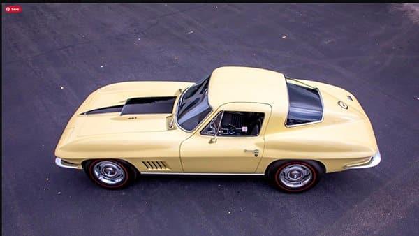 Sunfire Yellow 1967 L88 Corvette with Black Stinger