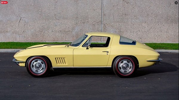 The only known Sunfire Yellow L88 Corvette
