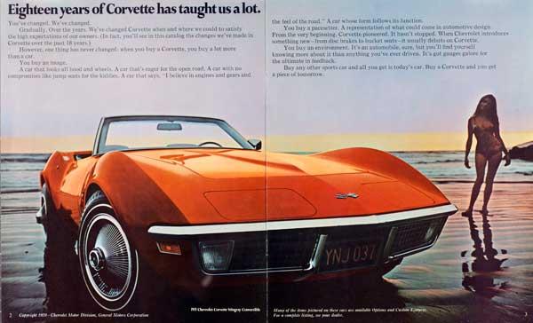 1971 Corvette Brochure Page 2