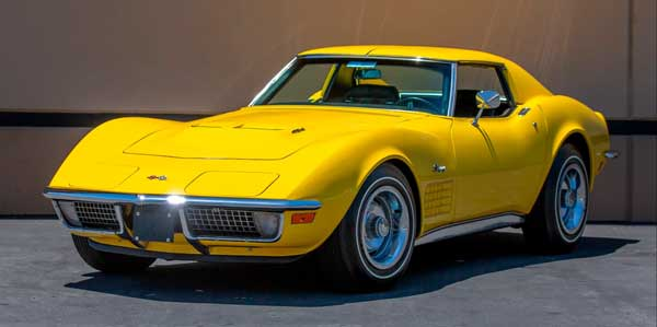 This 1971 Sunflower Yellow LS6 Coupe is a fine example.  It sold at the Mecum Auction in Monterey California in 2018 for $140,250. Photo Credits: Mecum Auction
