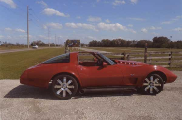 """FOR SALE: 1979 C3 VETTE 500 HP. QUADS, CAM, CHROME, CUSTOM WHEELS, CONT. TIRES 21-22, LEATHER CUSTOM SEATS, 5 POINT SEAT BELTS, ROLLBAR, CUSTOM RIMS, 9000 MILES. GLASS TOPS, HEADERS + 4"""" BLACK TUBES, 700 R4 AUTO (1) OF A KIND, VERY, VERY FAST OVER 100K INVESTED OVER 15 YEARS, SHOW ROOM, HAS A/C, ALL POWER, SERIOUS ONLY $50,000 FIRM. BUYING AIRPLANE! 941-320-2635"""