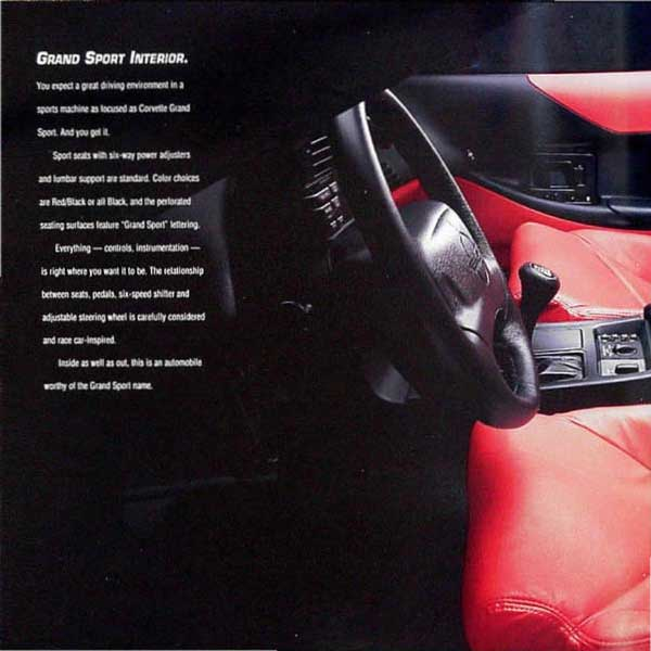 1996 Corvette Brochure Page 3