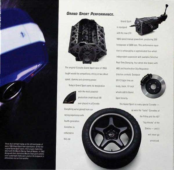 1996 Corvette Brochure Page 6