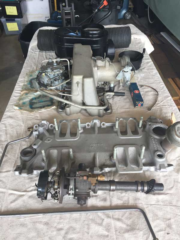 1962 Corvette complete fuel injection unit, complete setup.  Bought from Chip Miller in 1986.  Fuel Injection never installed.  NOS Serious inquiries only.  717-571-7038  (March/April)