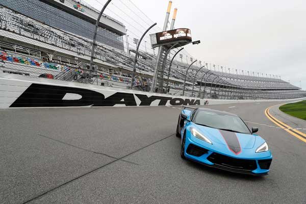 The mid-engine Corvette Stingray coupe will serve as the pace car for the renowned Daytona 500 on Sunday, Feb. 14. This marks the sixth time a Corvette has paced the Daytona 500. (HHP/Harold Hinson)