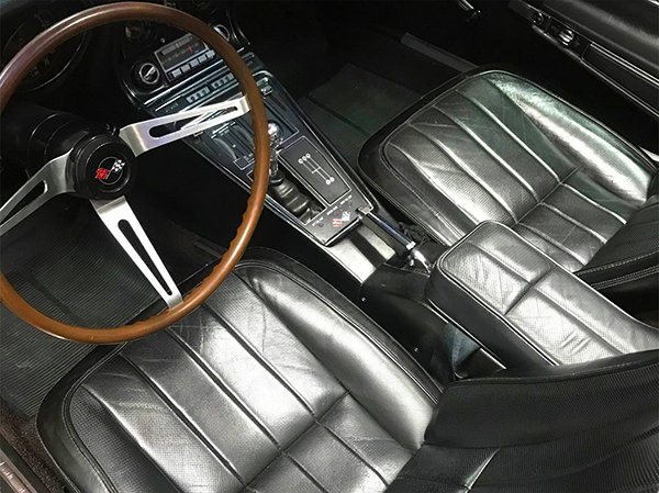 1968 Corvette Rally Red with Black Leather Interior