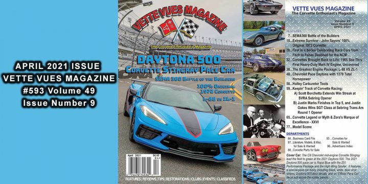 APRIL 2021 VETTE VUES MAGAZINE ISSUE PREVIEW