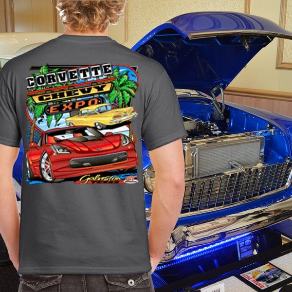 Corvette Chev y Expo Event T-Shirt on Gray