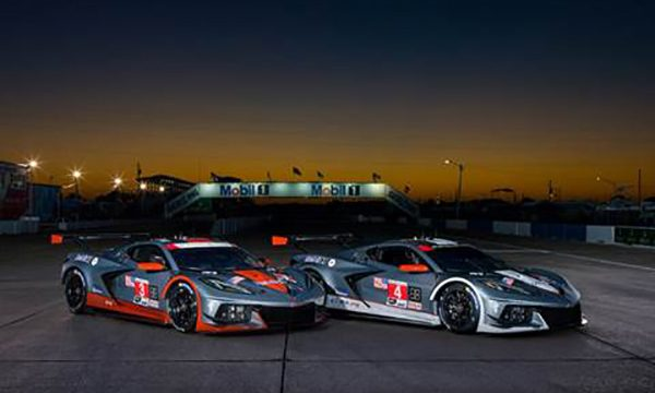Corvette Racing's C8.Rs Special Mobil 1 Livery at Sebring 2021