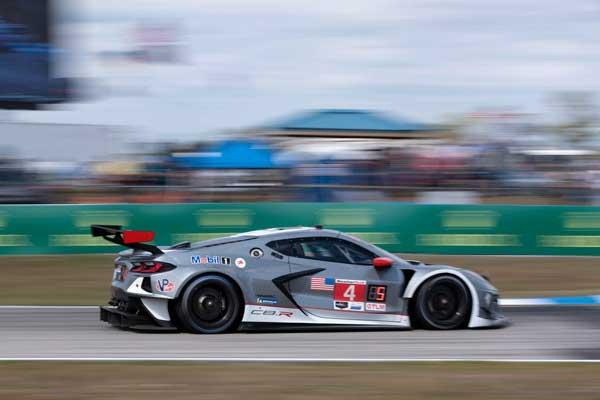 No 4 C8.R Corvette Racing at the 12 Hours Sebring 2021