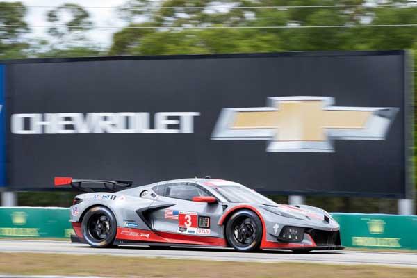 No 3 C8.R Corvette Racing at the 12 Hours Sebring 2021