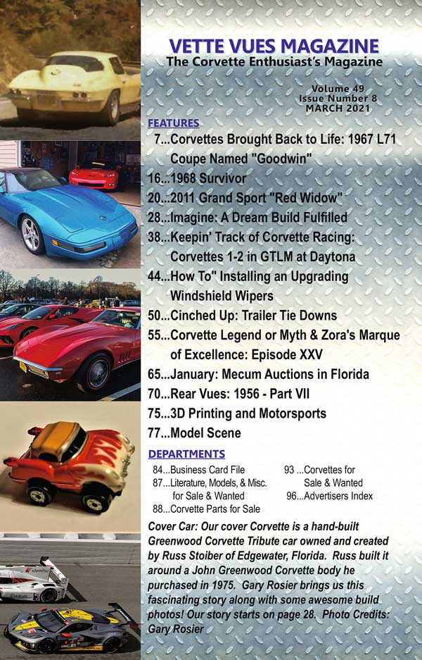 Articles in March 2021 issue Vette Vues Magazine, Volume 49 issue 8