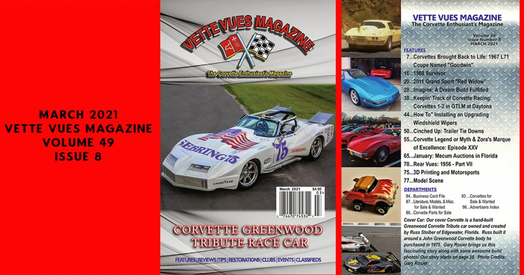 March 2021 issue Vette Vues Magazine, Volume 49 issue 8