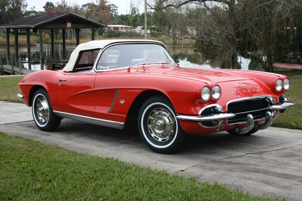 1962 Corvette Red with Red Interior, White Soft Top. Recent Frame-on Restoration, 350 ci 4-speed Excellent Fit, Finish and Bright Work, Shows Like New 65K 904-742-0636