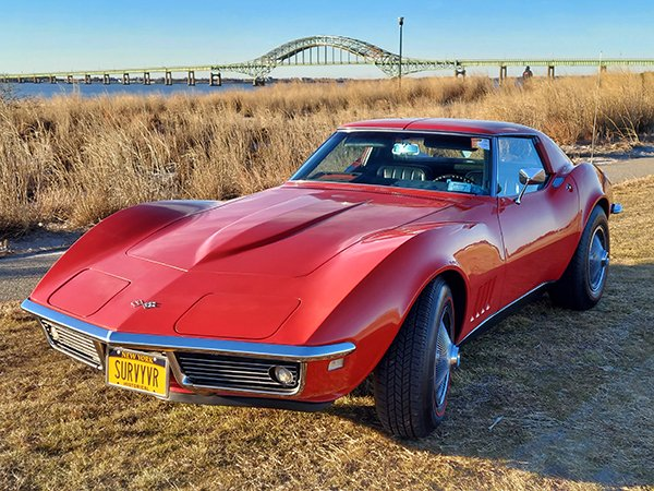 Rally Red with Black Leather Interior 1968 Corvette Coupe