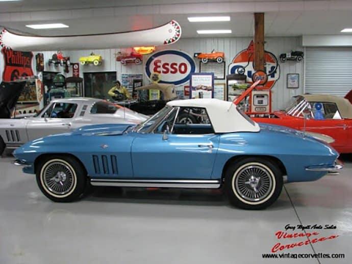 1965 Corvette Convertible Nassau Blue 365hp For Sale